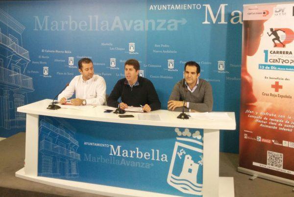 presentacion carrera solidaria centro plaza marbella